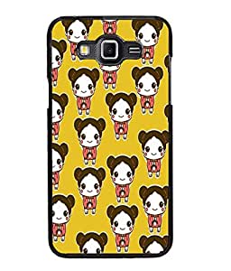 Fuson Cute Doll Pattern Back Case Cover for SAMSUNG GALAXY GRAND MAX - D3952