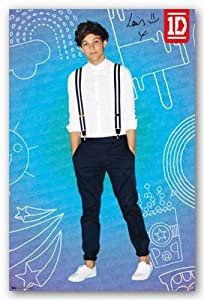 "1D (One Direction) - Louis - Pop 22""x34"" Art Print Poster from Trends International"