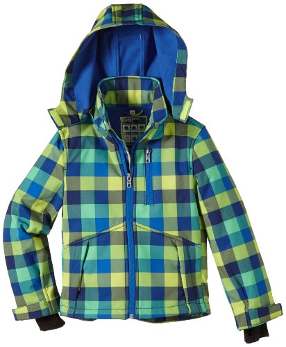 TOM TAILOR Kids Jungen Jacke softshell jacket/403, Gr. 140, Gelb (freaky yellow)