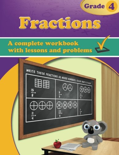 Fractions, Grade 4 Workbook (Mixed Fraction compare prices)