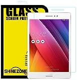 【ShineZone】Asus ZenPad S 8.0 Z580CA 専用強化ガラスフィルム 0.3mm 超薄型.表面硬度9H・ラウンド処理・飛散防止処理・ 高透過率 ・撥油性保護フィルム