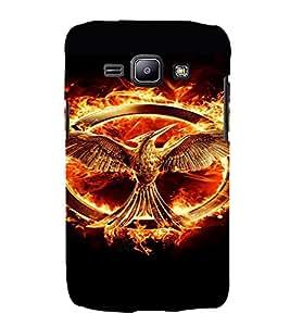 PrintVisa Hunger Games Design 3D Hard Polycarbonate Designer Back Case Cover for Samsung Galaxy J1