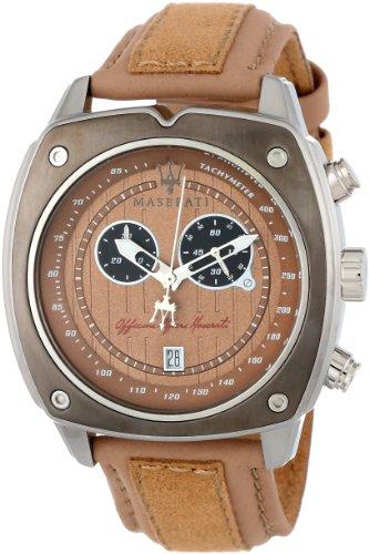 Maserati Men's Velocita R8871606003 Brown Suede Analog Quartz Watch with Brown Dial