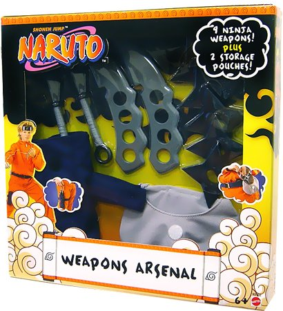 Naruto Mattel Toy Playset Weapons Arsenal [9 Ninja Weapons!]
