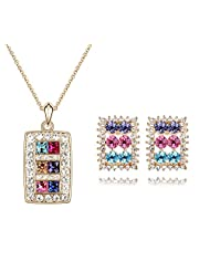 Crunchy Fashion The Shinning Diva Necklace Set