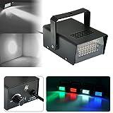 Mini Disco 24 LED bombilla de iluminación, con luz estroboscópica, luz de flash para iluminación del club, Dj, disco y bar, luz blanca.