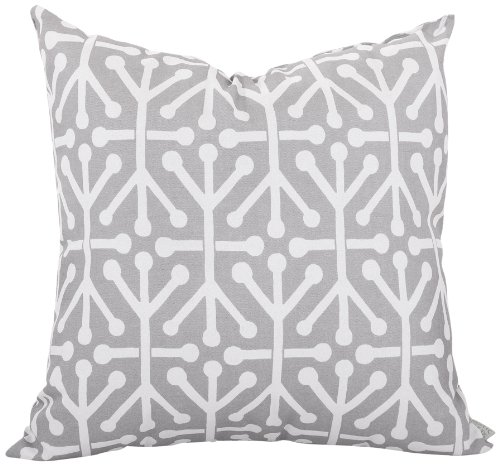 Majestic Home Goods Aruba Pillow, Large, Gray front-476864