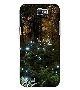 ColourCraft Forest Design Back Case Cover for SAMSUNG GALAXY NOTE 2 N7100