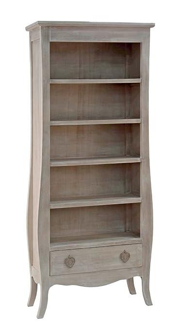 Libreria a cinque vani ed un cassetto legno paulownia 744342 L75h180p31.5cm