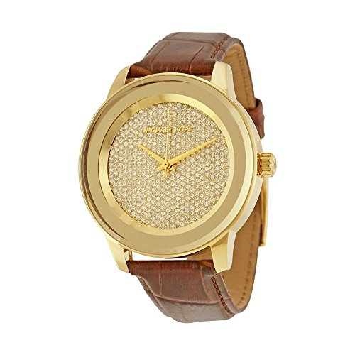 womens-michael-kors-mk2455-kinley-brown-leather-glitz-gold-tone-watch