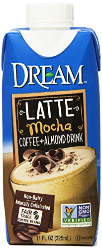 DREAM Latte Coffee + Almond Mocha Non-Dairy Drink, 11 Fluid Ounce (Pack of 12)