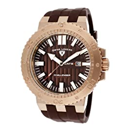 Challenger Brown Silicone Brown Dial Rose-Tone Case