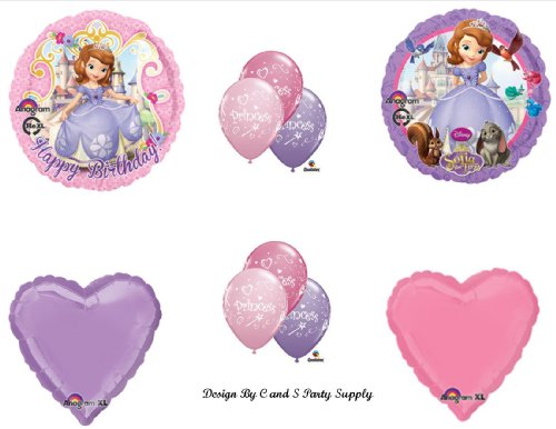 Disney's SOFIA THE FIRST Happy Birthday PARTY Balloons Decorations Supplies
