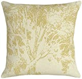 123 Creations All Natural Linen Pillow, Beige Tree