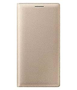 Delkart Full Flip Cover For Panasonic Eluga I2 (golden)