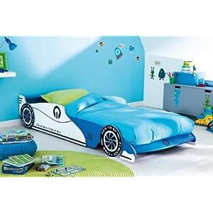 Autobett GP blau weiß F1 Bett Formel 1 Kinderbett