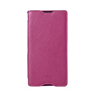 Melkco - Premium Leather Case for Sony Xperia ZU - Face Cover Book Type - (Purple) - SEXPZULCFB4PELC