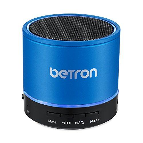 KBS08-Kabelloser-Bluetooth-Reise-Lautsprecher-von-Betron-fr-unterwegs-in-Blau