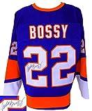 Mike Bossy Signed Custom Pro-Style Blue Hockey Jersey JSA