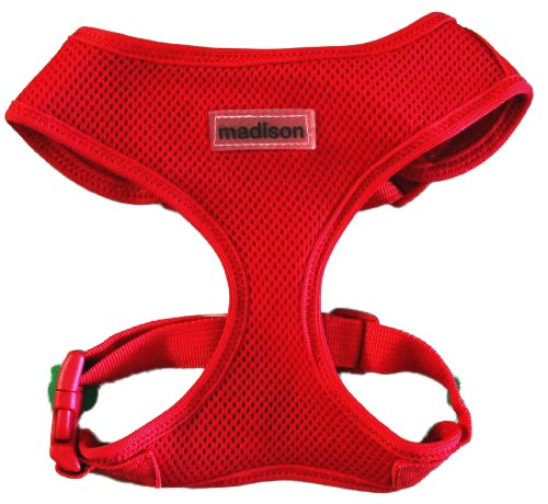 Double Adjustable Dog Harness-Red (Medium)