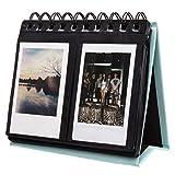 [Fujifilm Instax Mini Photo Album] Woodmin 72 Pockets Desk Calendar Album for Fuji Instant Mini 70 7s 8 25 50s 90, Polaroid Z2300, Polaroid PIC-300P Film(Blue)