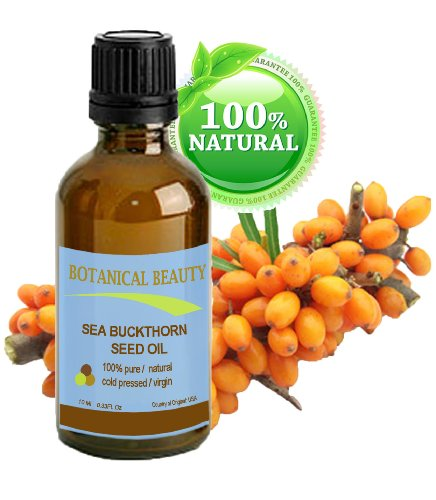 Botanical Beauty Seabuckthorn Seed Oil 100% Pure. Skin Care. 0.33 Fl.Oz.- 10 Ml.