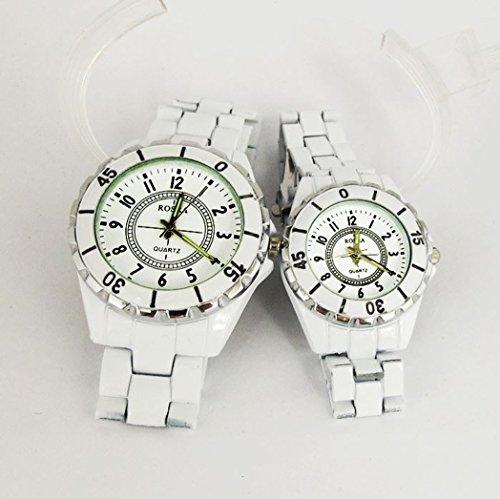 腕時計 メンズ レディ-ス ペア カップルで ビジネスにも カジュアルにも 清潔感ある ホワイト ウォッチ ユニセックス [ ファッション 腕時計 通販 Amazon 店 ]誕生日 , クリスマス プレゼント , イベント 等 に センス の いい 腕時計 を。 [オリジナルブレスレットとサシェセット]