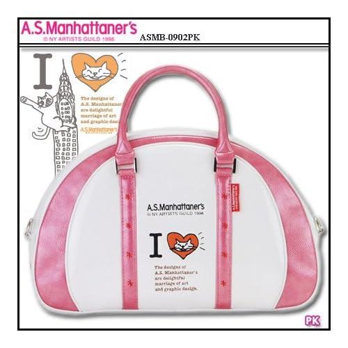 【レディース】マンハッタナーズ A.S.Manhattaners ゴルフ ボストンバッグ ASMB 0902 ピンク