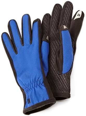 Isotoner Women's SmarTouch Nylon Glove with Gathered Wrist, Cobalt Blue, Medium/Large