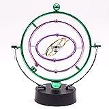 JLERU Movimiento perpetuo, Kinetic Vía Orbital Gadget de escritorio de Office Art Display decoración del hogar (Verde)
