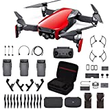DJI Mavic Air Fly More Combo, Flame Red (2018 Version), Professional Case, Landing Gear and More (Color: Flame Red)