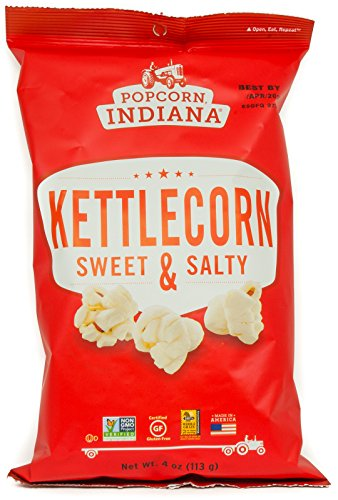 Popcorn Indiana Kettlecorn Sweet and Salty, 4 Oz (Pack of 4) (Indiana Corn compare prices)