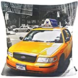 NAVA New USA New York NYC Yellow Cab Taxi Modern Decorative Pillow Case Cushion Cover