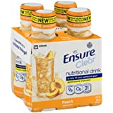 Ensure Clear Nutrition Drink Bottles - Peach - 10 oz - 4 pk