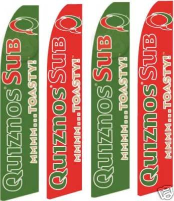 quiznos-feather-banner-flags-complete-kits-pack-of-4