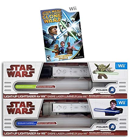Star Wars the Clone Wars - Lightsaber Duels + 2 Official Nintendo Wii Lightsabers (Yoda and Anakin)