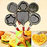 Saflyse 5pcs Omelettpfanne Crêpepfanne Mini Omelett Braten Pfanne Antihaft Eierpfanne