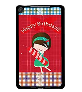 PrintDhaba Quote D-3597 Back Case Cover for ASUS GOOGLE NEXUS 7 2013 (Multi-Coloured)