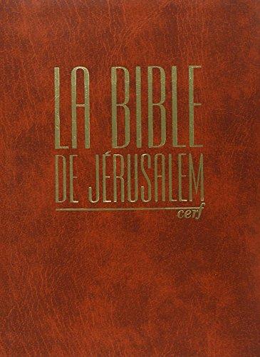 La Bible de Jérusalem, édition compacte intégra orange