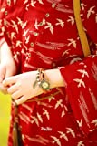 エスニック レザー ブレスレット 時計 どんな服にも良く合うデザイン (ブラウン)