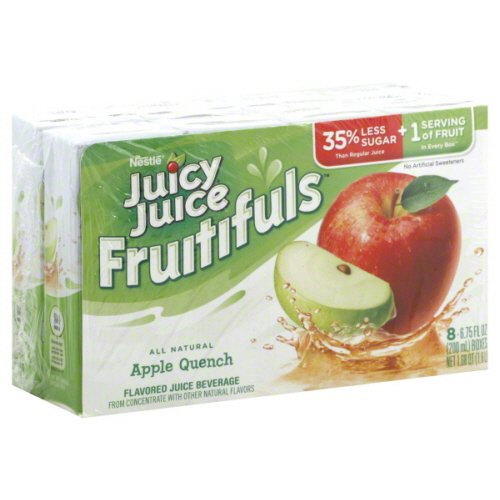 Juicy Juice Fruitifuls All Natural Apple Quench 8Count 6.75 Oz Boxes - Pack Of 4 - Total 32 Boxes front-951143