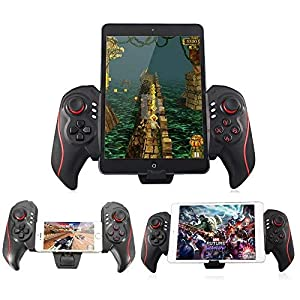 ElementDigital Bluetooth Game Controller Wireless Telescopic Bluetooth Gamepad Joystick Game Handle Cell Phone Attachable BTC-938 Saitake STK-7003 Gamepad Controller 5-10 Inch (Just for Android)