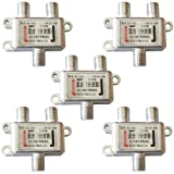 [F-FACTORY] 混合(分波器)屋内用 BS/CS/地上 デジタル放送対応 アンテナ分波器/C-025(5個入り)