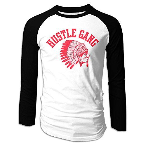 TI Hustle Gang Mens Baseball Jerseys Raglan Long Sleeve Vintage Jerseys Shirts (Ti Clothing compare prices)