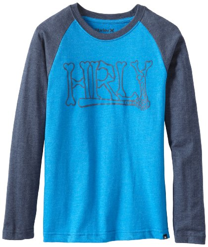 Hurley Boys 8-20 One and Only Heather Raglan Long