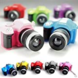 LOCOMO Cute Mini Digital Single Lens Reflex DSLR Camera Style LED Flash Light Torch Shutter Sound Keychain thumbnail