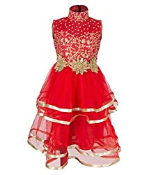 Addyvero Imperial Red Girls Gown Dress