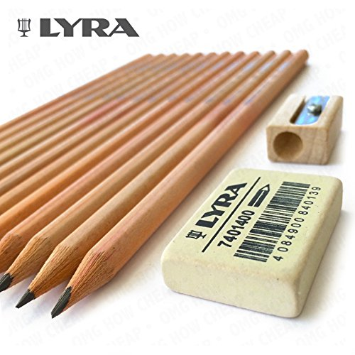 lyra-natural-wood-pencil-set-includes-12-pro-natura-hb-pencils-1-eraser-and-1-natural-wood-sharpener