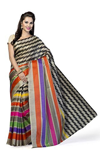 Ishin Silk Saree Witht Blouse Piece (Ishin-14051 _Multi-Coloured)