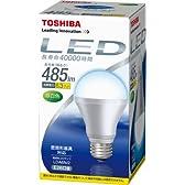 TOSHIBA E-CORE(イー・コア) LED電球(フィンレス構造・E26口金・一般電球形6.3W・白熱電球40W相当・485ルーメン・昼白色) LDA6N/2